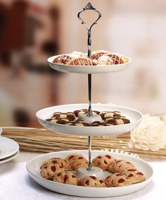 Look at this Three-Tier Ceramic Serving Tray on #zulily today!