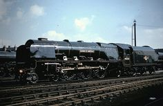 Stanier Pacific, 46232 Duchess of Montrose at Crewe Works in May 1957. Photo: Billy Embleton