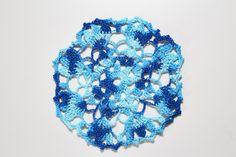 Niebieska serwetka szydełkowa  facebook.com/twojamodowaprzystan