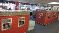 Resultado de imagen para Santa's workshop decorations for office Christmas Cubicle Decorations, Christmas Themes, Kids Christmas, Holiday Decor, Office Decorations, Christmas 2019, Cubicle Design, Work Cubicle, Cubicle Ideas