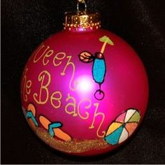 Queen of the Beach - Personalized Family Vacation Christmas Ornament