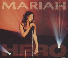 """For Sale - Mariah Carey Hero UK  CD single (CD5 / 5"""") - See this and 250,000 other rare & vintage vinyl records, singles, LPs & CDs at http://eil.com"""