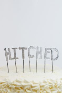 """""""Hitched"""" cake topper"""