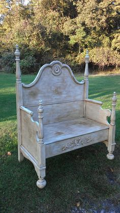 Repurposed Headboards Into Benches