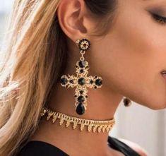 Vintage Boho Crystal Cross Drop Earrings for Women Baroque Bohemian Large Long Earrings Jewelry Brincos 2018 earrings dangle earrings earrings earrings earrings earrings earrings tutorial earrings Cross Earrings, Vintage Earrings, Crystal Earrings, Statement Earrings, Women's Earrings, Cross Jewelry, Rhinestone Earrings, Jewelry Rings, Diamond Earrings