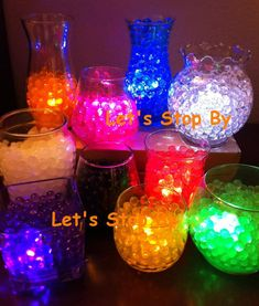 12 LED Submersible Tea Light + 100g Water Pearl Bead Wedding Decoration Floral