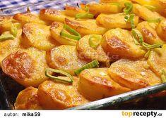 Zabíjačkové brambory recept - TopRecepty.cz Food 52, Sweet Potato, Pork, Food And Drink, Potatoes, Treats, Vegetables, Ethnic Recipes, Kale Stir Fry