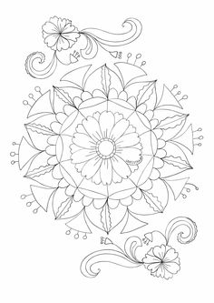 Coloriage Mandala avec des fleurs