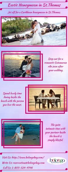 Jet off for a romantic Caribbean honeymoon.Opt for an all inclusive honeymoon packages and enjoy the catamaran ride with your partner in the sea water soon after your wedding.