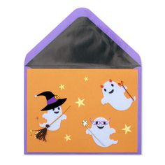 Front view of halloween card