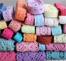 0.5 - 7 cm 10 metros ( 1 m/pc ) laço de tecido de algodão DIY tecidos de vestuário materiais de artesanato guarnição do laço caixa de presente da flor decoração da fita(China (Mainland))