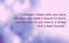 Christina Aguilera – I thought I knew who you were Quote