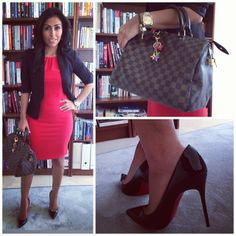 .@samisoltani | Office outfit of the day! I'm being a bit daring and wearing red. Oooops! #za... | Webstagram