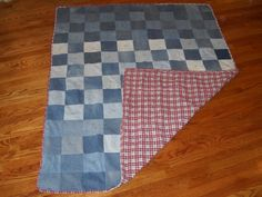 DENIM JEAN QUILT. $95.00, via Etsy.    What a great idea