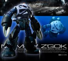 P-Bandai Exclusive: RG 1/144 Z'Gok Mass Production Ver. - Official Promo Images