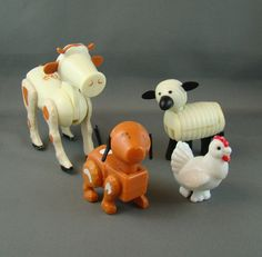 Fisher Price Farm Animals  I just found my 31 year old son's barn and all the animals, fences and tractor w/ people are all there.  I am sending it to him because his 3 year old daughter will love it!