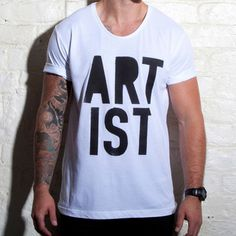 Herrenshirt Artist Scoop Weiß, 25€, jetzt auf Fab.