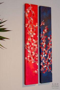 Washi (Japanese Paper) Art Panel Tanzaku / 015 (R) Art N Craft, Diy Art, Japanese Paper Art, Japanese Wall Art, Indian Art Paintings, Diy Canvas Art, Panel Art, Acrylic Art, Oeuvre D'art