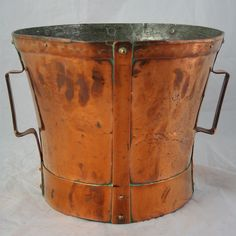 Copper Grain Measure from French Metro Antiques