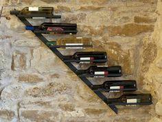 Weinregal Diagon Rechts 100cm aus Metall Flaschenhalter Flaschenständer Wandregal