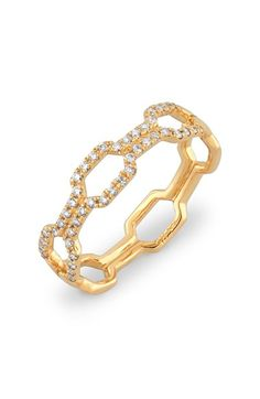 Bony Levy 'Entrelace' Stackable Link Band Diamond Ring (Nordstrom Exclusive)