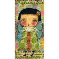 Gen The Spring Fairy   Mixed Media Giclee Print by DanitaArt