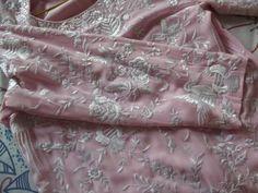 Designer Parsi gara Kurti on Baby Pink Pure Georgette