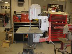 Porta Band Saw Stand - The 1947 - Present Chevrolet & GMC Truck Message Board Network Milwaukee Band Saw, Modern Media Cabinets, Portable Band Saw, Saw Stand, Welding Table, Metal Tools, Metal Shop, Homemade Tools, Workshop Ideas