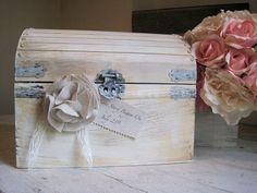 Wedding Gift Card Holder Wedding Keepsake Box by BurlapandLinenCo, $70.00