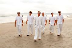 Casual Groom and Groomsmen - linen pants and jacket would be perfect for casual wedding on the beach.