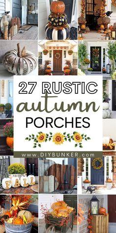 Autumn Decorating, Porch Decorating, Decorating Ideas, Home Decor Hacks, Decor Ideas, Fall Porches, Diy Fall Wreath, Eclectic Decor, Porch Ideas