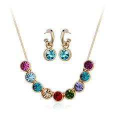 2016 новый бисера ожерелье Сделано С crystal с Swarovski ювелирные набор для девочки бесплатная доставка