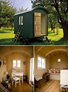 Artisan shepherd's hut in Sussex | Timber Trails: Turnkey tiny house, cabin kits, and custom cottage designs built of super-efficient, affordable, and easy-to-finish structural insulated panels (SIPs). Go to >> TimberTrails.TV