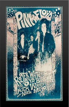 Framed Pink Floyd Group Trippy 70's Rock Band Poster Print VERY LIMITED RARE