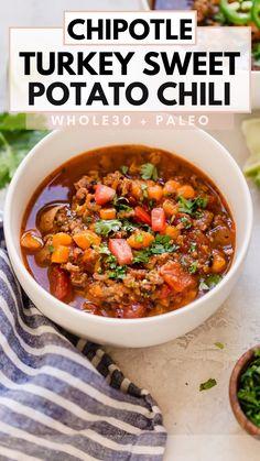 Chilli Recipes, Real Food Recipes, Crockpot Recipes, Healthy Recipes, Chowder Recipes, Soup Recipes, Dinner Recipes, Easy Whole 30 Recipes, Fall Recipes
