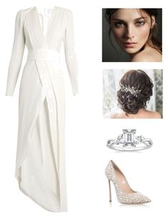 """""""White wedding day"""" by arini-lioni on Polyvore featuring Galvan, Casadei and Burberry"""