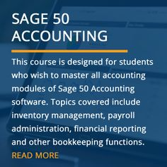 Sage 50 Accounting Training Course (Online & In-Class) Bookkeeping Course, Bookkeeping And Accounting, Accounting Software, Sage Accounting, Accounting Training, Sage 50, Course Offering, New Career