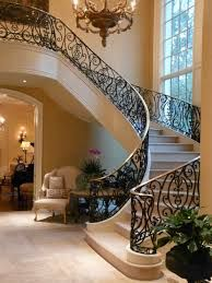 Foyer decorating – Home Decor Decorating Ideas Luxury Staircase, House Staircase, Interior Staircase, Mansion Interior, Modern Staircase, Grand Staircase, Staircases, Wrought Iron Staircase, Winding Staircase