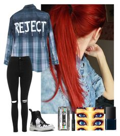 """""""//It's not a secret that I'm just a reject//"""" by quincy-osborn ❤ liked on Polyvore featuring Topshop, Dr. Martens, Retrò and NARS Cosmetics"""