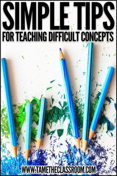 Whether you teach elementary, middle, or high school, I'm sure there are certain concepts that are more difficult to teach than others. So here are a few simple tips to help you along when you get ready to teach difficult concepts in any subject area and any level. #teachingtips #teachertips #teacherhacks #teachinghacks #teachingideas