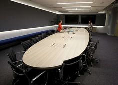 A conference room in the new Square space is oval Tuesday October 8, 2013 in San…