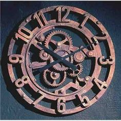 Ebony Arabic Gear Wall Clock