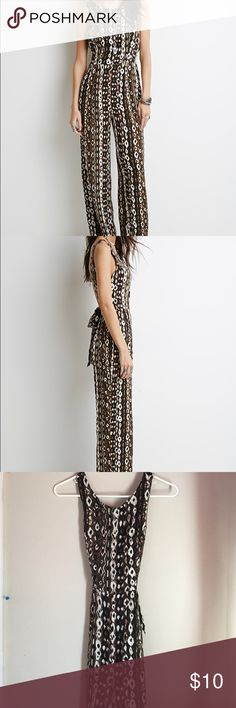 ABSTRACT PRINT CUTOUT JUMPSUIT Forever 21 jumpsuit - boho style. Never worn Forever 21 Pants Jumpsuits & Rompers