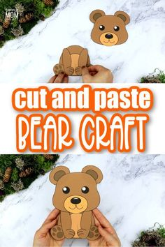 The letter B is so fun to learn when you have a fun teddy bear to help you! Use the free printable bear template to make this easy bear craft. With step by step instructions, anyone can make them and kids of all ages will love cutting and pasting together their own bear in the classroom and at home (toddlers, kindergartners and preschoolers!) #bear #bearcrafts #LetterB #PrintableBearCrafts #SimpleMomProject Forest Animal Crafts, Animal Crafts For Kids, Toddler Crafts, Preschool Crafts, Printable Crafts, Templates Printable Free, Printables, Teddy Bear Template, Raccoon Craft