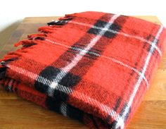 Faribault Red Plaid Throw by MarketHome on Etsy, $26.00
