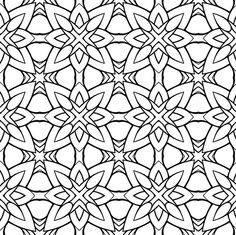 Somnium part two (black and white version) fabric by samvanvoorst on Spoonflower - custom fabric Black White Pattern, White Patterns, Black And White, Pattern Coloring Pages, Animal Drawings, Custom Fabric, Spoonflower, Embroidery, Design