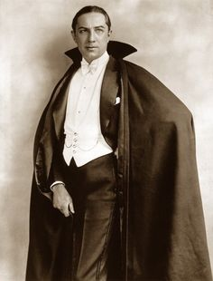 Bela Lugosi as Count Dracula - 1927. He used to scare me quite enough on Saturday afternoon, spooky theater time.