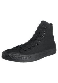 CTAS MONOCHROME HI - Høye joggesko - Finnes i Hvit og sort, her er sort, med sort såle, sort logo, sort lisser.. All Black..  Want them both !! Some day :)