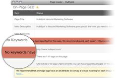 Get actionable advice on each of your website pages on how you can improve for SEO. http://www.hubspot.com/products/seo/