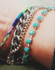 Bracelets with different types of strands are the trend!